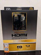 15 ft Premium HDMI Cable GE Lifetime Warranty 4K Ultra HD