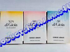 LOT of 3~Giorgio Armani ACQUA DI GIOIA SKY~SUN~AIR ~Eau de Parfum.05oz SAMPLES