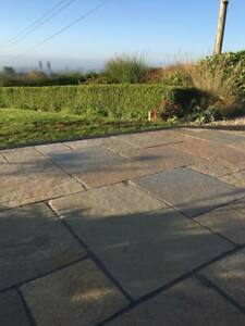 Yellow Limestone Paving flags slabs mixed project pack 600 sereis