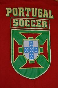 Vintage Portugal Soccer Football National Team FPF Crest T Shirt Medium Beat Up