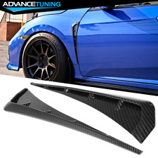 Fits 16-20 Honda Civic 10th Gen Front Fender Vents Carbon Fiber Print