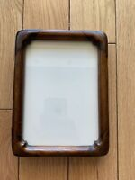 Picture Frame Wood Dark Color Under Glass, 8x6 and 6.6x4.6 Inches