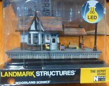 Woodland Scenics N #4942 The Depot (Built-&-Ready)Assembled w/Interior Light