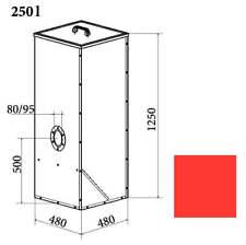 Pellet Tank 250 Liter von ATMOS für Pelletkessel und Kombikessel Pelletbehälter