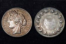 Médaille l'Enseignement Agricole Prix. Attribuée, 1898. Ariège. Argent