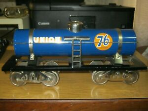 McCoy Standard gauge train Union 76 blue tanker 263