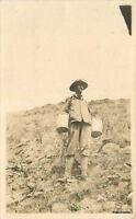 C-1910 Elderberry Bill Buckets Desert Yucca  RPPC Real photo postcard 8234