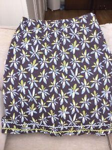 NEW MISTRAL TEA DRESS SHIFT GREY SLATE PINK OCHRE 100/% LINEN SUMMER SIZE 14-16