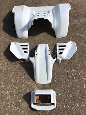 HONDA ATC250R SIDE COVER HEADLIGHT FRONT & REAR FENDER SET 85  WHITE ATV12SET