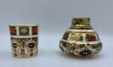 VTG Royal Crown Derby English Porcelain IMARI Ronson Table Lighter Cigarette Cup