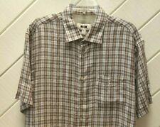 NWOT-New_Linen_JOSEPH ABBOUD Short Sleeve Shirt_XL_Grays Browns & Linen Color