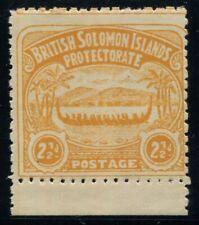 British Solomons 1907 (SG.4) 2½d Orange-Yellow Large Canoe