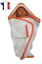 Sortie de bain NEUVE pour Miss Corolle 36 cms Ref.blanc biais orange