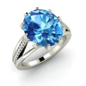 3.20 Ct Diamond Topaz Gemstone Engagement Ring Platinum Rings Special Offer