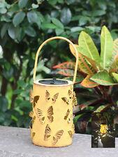 Solar Powered Reflection Effect Butterfly Yellow Lantern White Led Solar Light