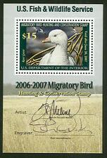 US #RW73b $15.00 Ross' Goose Mini Sheet BOTH SIGNATURES