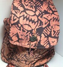 NWT Nicole Miller African Charity Artisan Backpack $85 MSRP Orange and Purple