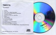 TWISTA Kamikaze UK 16-trk promo test CD Cee-Lo Ludacris Kanye West R Kelly