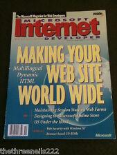 MICROSOFT INTERNET DEVELOPER - V4 #10 - MULTILINGUAL DYNAMIC HTML - OCT 1999