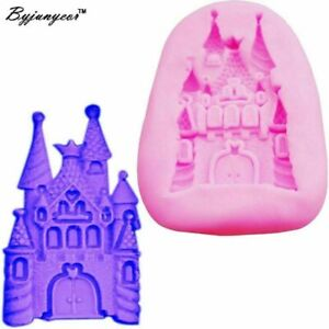 Fairy Tale Princess Disney Castle silicone mould for Icing Cake Decoration