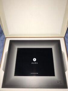 "Aura Digital Photo Frame 9.7"" Display w 2048x1536, Charcoal Black Finish New"