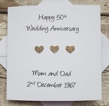 50th Wedding anniversary card  - Golden Wedding Anniversary card - Anniversary