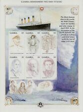 SELLOS TEMA TITANIC GAMBIA 1998 2653/58 6v.MH