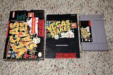 Vegas Stakes (Super Nintendo SNES) Complete in Box GREAT Display A B C D