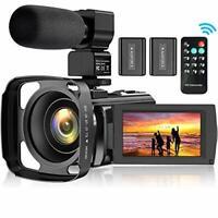 Video Camera Camcorder for YouTube FHD 1080P 30FPS 24MP Digital Vlogging Came...