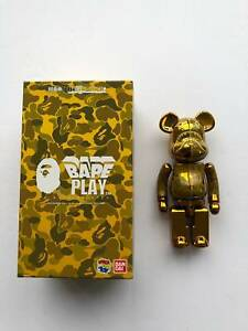 A BATHING APE BAPE x  MEDICOM TOY Chogokin BE@RBRICK 200%, BEARBRICK GOLD BAPE