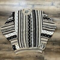 Vintage 90s IDEA UOMO Italian Coogi Style Bill Cosby Biggie Knitted Sweater L