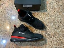 100% AUTHENTIC PUMA McQ CELL MID BLACK FLAME SCARLET SNEAKERS, SIZE US10, NEW