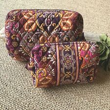 Vera Bradley Lot of 2 Safari Sunset Floral Pattern Cosmetic/Make-up Bags