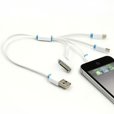 4in1 USB Charging Cable Charger for iPhone 5S/5C/SE/5/6/7 Plus i Pad 2 3 4 Air