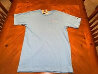 Champion Life Blue Heritage Logo Stitched Tee Shirt Mens Sz Large NWT