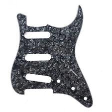 Pickguard Strat® Fender® Stratocaster® USA/MIM Black Pearl 4Ply Sss