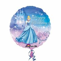 "Disney Cinderella Princess Party Happy Birthday 17"" Round Foil Balloon"