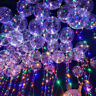 Transparent LED Light Up Luminous Bubble Balloons Wedding Birthday Party Decor