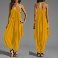 Womens Sleeveless Summer Baggy Loose Jumpsuit Playsuit Harem Pants Beach Dress