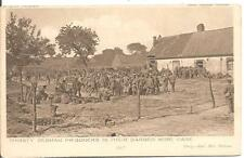 RARE DAILY MAIL WAR POSTCARD,THIRSTY GERMAN PRISONERS IN THEIR BARBED WIRE CAGE