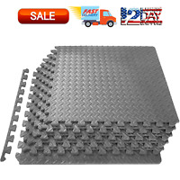 Puzzle Exercise Mat, EVA Foam Interlocking Tiles, Protective Floor for Workout