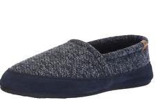 Men's Acorn Moc Navy Tweed Slipper Leather/Polyester 7.5 - 8.5