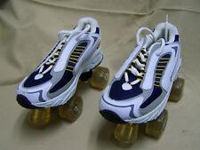 4x4 quad Sneaker Roller Skates SIZE 8 BLUE WHITE
