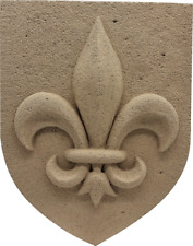 Blason mural fleur de Lys véritable pierre reconstituée, artisan Français