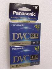 Digital Video Cassette,  Panasonic  DVC,   Mini DV for HD,   p/n:  AY-DVM63HD2,