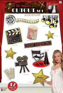 At the Movies Hollywood Oscar Award Prom Theme Party Wall Decoration Cutouts