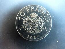 Pièce monnaie MONACO 10 Francs 1981 RAINIER III bon état