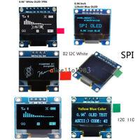"""0.96"""" I2C IIC SPI Serial 128X64 OLED LCD LED Display Module White Blue Yellow"""
