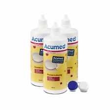 3 x 360ml Acumed Kombilösung inkl. einem Behälter - Kontaktlinsenpflegemittel
