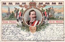 AK, Kaiser Wilhelm II. von Preußen, Vom Fels zum Meer,  1898 (D)5024